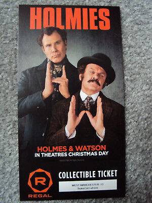 HOLMES & WATSON movie original Collectible Ticket Limited Sherlock Will Ferrell
