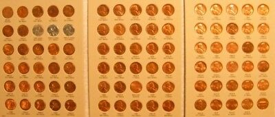 Complete Uncirculate 1941- 1974 PDS Lincoln Wheat & Memorial Penny Cent 90 coins