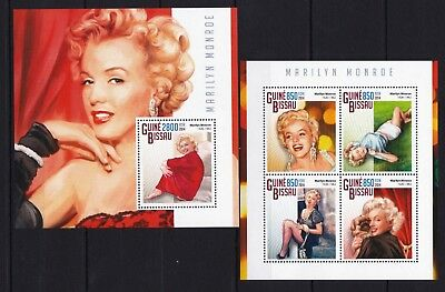 Guinea Bissau 2014 - Marilyn Monroe - American Actress- postage stamps MNH** XH