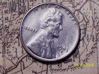 1943-S  @  *Awesome* Lincoln Wheat Penny