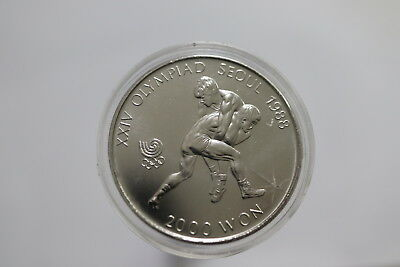 South Korea 2000 Won 1987 In Capsule B11 Rjjj28