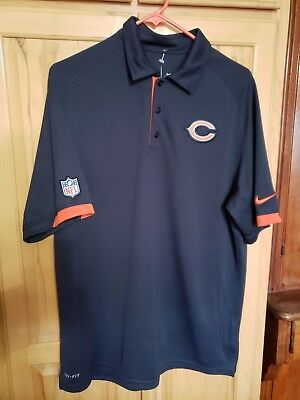 GORGEOUS Chicago Bears Men s Md Blue Nike On Field Dri-Fit Polo Shirt 895e6f3eb