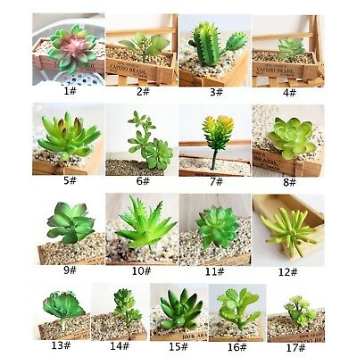 Artificial Green Succulents Plant Garden Fake Potted Plant DIY Home Floral Decor