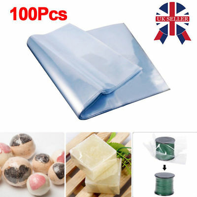 100x 16x24cm POF Shrink Film Wrap Bags Clear Transparent Heat Seal Gift Packing