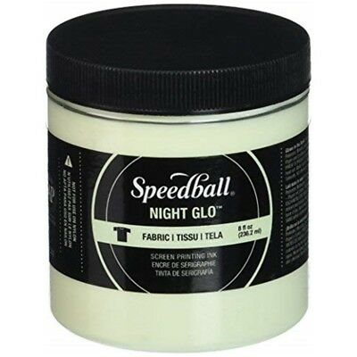 Speedball Art Products Night Glow Fabric Screen Printing Ink, 8 Oz, White - Ink