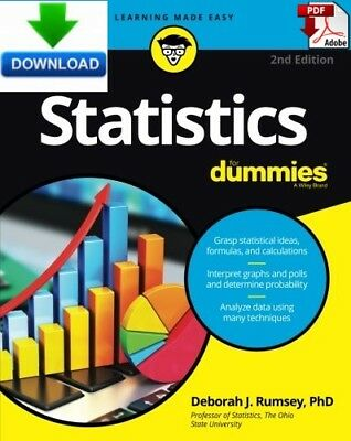 Statistics For Dummies - Read on PC, Phone or Tablet  - Fast PDF DOWNLOAD