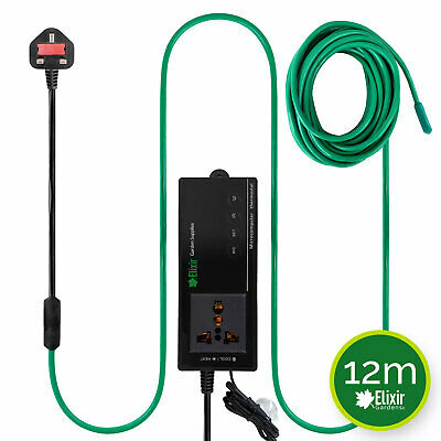 Soil Warming / Heating Cable 12m 80W + Thermostat Heated Bed Propagator