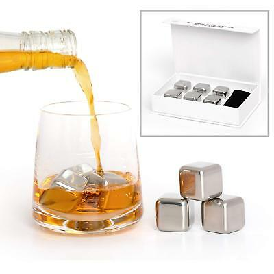 24x Wholesale Joblot Reusable Stainless Steel Home Drinks Ice Cubes Giftset UK