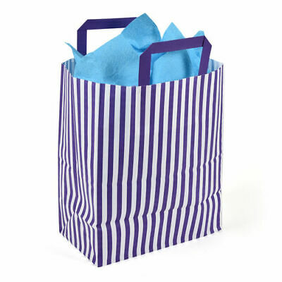 250 x 140 x 300mm Purple Striped Paper Carrier - Pack of 50