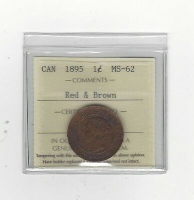 **1895** ICCS Graded Canadian, Large One Cent, **MS-62**