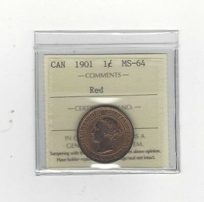**1901** ICCS Graded Canadian, Large One Cent, **MS-64**