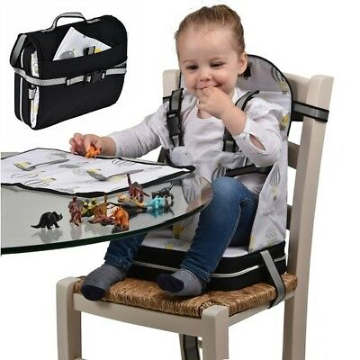 Polar Gear Booster Seat + Placemat Baby Feeding Travel Bag Safe Table High Chair