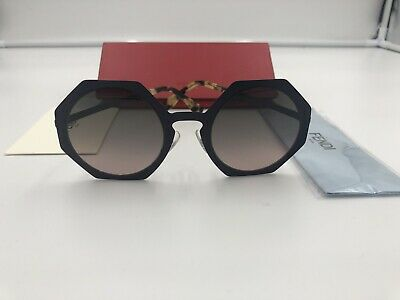 42403a1ccd1 FENDI FACETS METAL Heptagon Sunglasses in Matte Blue FF 0152 S 7BG ...