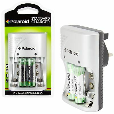 Polaroid Aa / AAA / 9V Ni-Mh Ni-Cd Chargeur Rechargeable Prise Piles