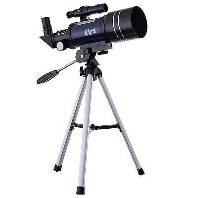 AMSCOPE 300-70mm Compact Telescope for Kids Beginners Astronomical Refractor