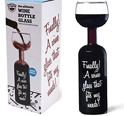 Bigmouth Inc Original Wine Bottle Glass I Only Have Time For One