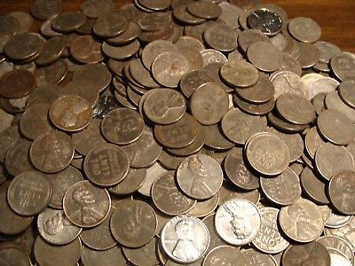 * (50) pc. Roll of 1943 Steel Wheat Pennies - All Mint Marks P+D+S !
