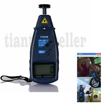 Business & Industrial Test Meters Contact / Non-Contact Photo Tachometer 2 in 1