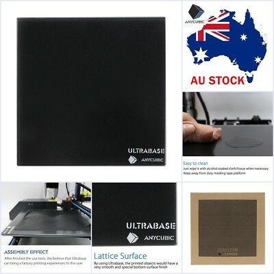 AU Stock Anycubic Ultrabase 310x310mm Glass Build Plate for 3D Printer MK2/MK3