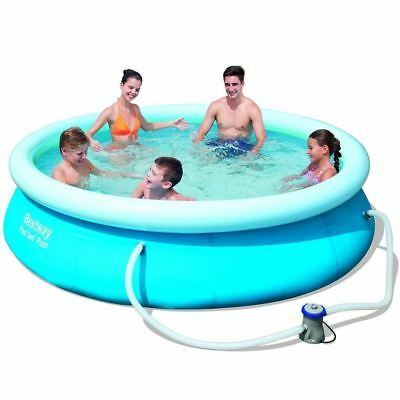 "Bestway Inflatable 10x30"" Fast Set Family Round Paddling Swimming Pool A-BW57270"