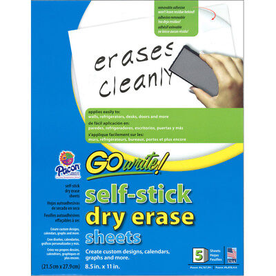 Pacon Corporation - Dry Erase Sheets Self Stick 8 1/2