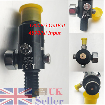 5/8''-18UNF Thread Paintball Valve Regulator 4500psi HPA Output 1200psi Air Tank