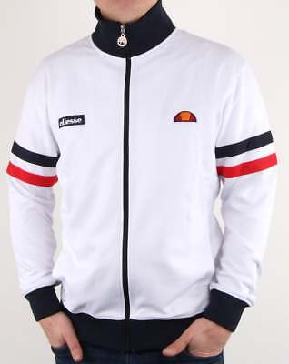 tracksuit jacket Roma Red /& White Ellesse Rimini Track Top in Navy