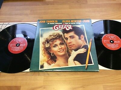 Grease soundtrack John Travolta, Olivia Newton John lp French press