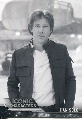 Star Wars ESB Black & White Iconic Characters Chase Card IC-3 Han Solo