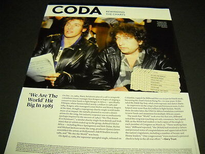 BOB DYLAN & BRUCE SPRINGSTEEN big in 1985 retro 2014 PROMO POSTER PAGE We Are..