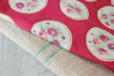 Antique French fabric vintage material PROJECT scraps patchwork old pillow quilt
