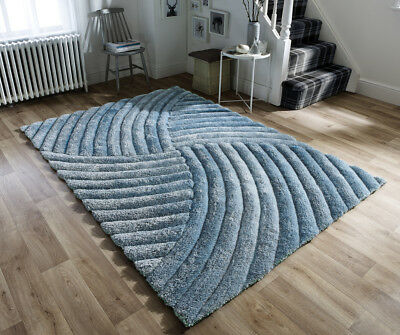 Duck Egg Blue Cosy Costal Shaggy Rugs Soft Thick Furry Polyester Living Room Rug
