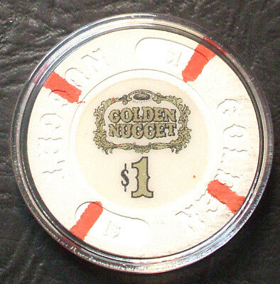 $1. Golden Nugget Casino Chip - 1980 - Atlantic City, New Jersey - Hard To Find