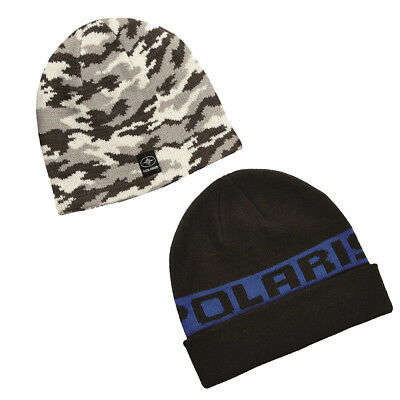 Polaris Classic Style Cuff Fold up Warm Snowmobile Winter Beanie Hat OEM
