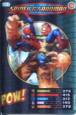 Spiderman Heroes And Villains Card #184 Spidey & Sandman Lenticular