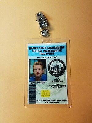 Hawaii Five-O ID Badge-Daniel Williams cosplay costume prop