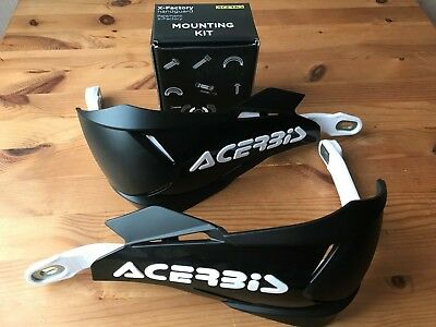 Acerbis X - Factory Universal Bike Hand Guards & Fitting Kit Black/White