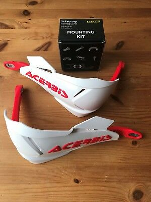 Acerbis X - Factory Wrap Around Honda Cr Crf Hand Guards & Fitting Kit White/Red
