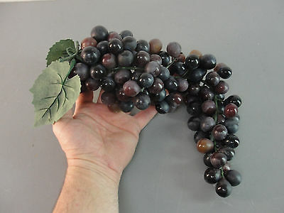 "Fake Faux Artificial Life-Like Display Decorative Purple Grape 14"" Bunch Decor"