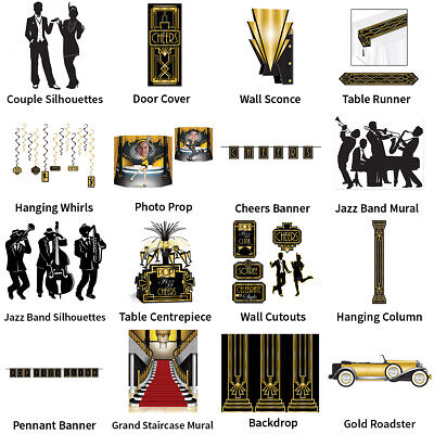 Great Gatsby Roaring 20'S Charleston Decorations - Complete Party Collection