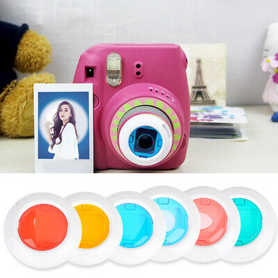 Instax Mini 8/8+/9/7s/KT 4 Pcs Colorful Filter Lens For Fuji Film Instant Camera
