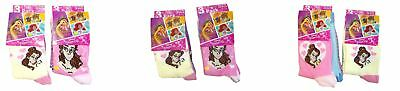 Disney Princess socks girls different sizes(pack of 6) Belle Cinderella Rapunzel