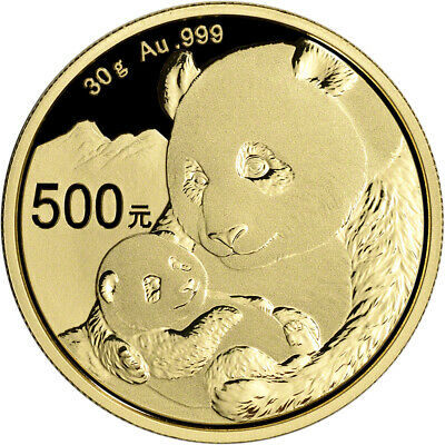 2019 China Gold Panda 30 g 500 Yuan - BU - Mint Sealed