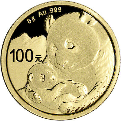 2019 China Gold Panda 8 g 100 Yuan - BU - Mint Sealed