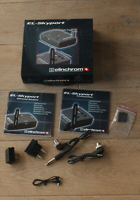 Elinchrom El-Skyport Universal RadioTrigger Set  Box Instuctions and Cables Only