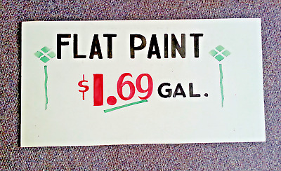 Vintage 1930's Flat Paint Advertising Hand Painted Display Store Sign