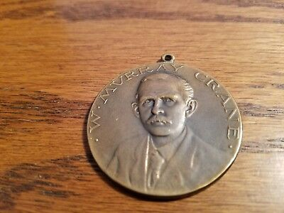 Vintage 1913 U.S. SENATOR WINTHROP MURRAY CRANE HOME COMING MEDALLION
