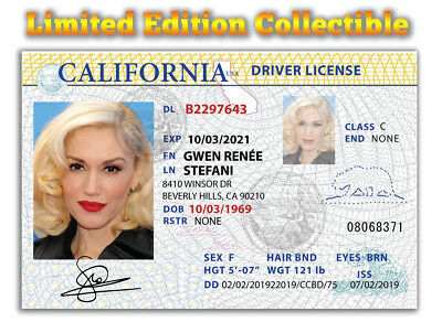 Gwen Stefani Superstar Limited Edition Collectible License