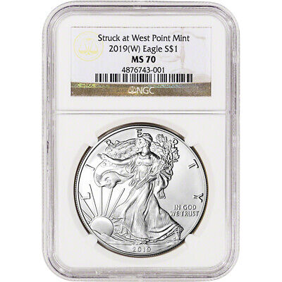 2019-(W) American Silver Eagle - NGC MS70