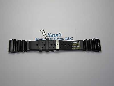 4e581521ed4 24mm Black Rubber Diver Watch Band N.D.LIMITS (Citizen Style Type)  CTD24